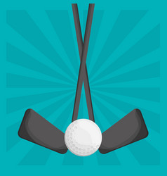 golf clubs ball design vector image vector image
