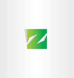 green z letter logo square icon vector image vector image