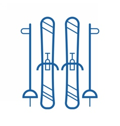 Line Skis Icon vector image vector image