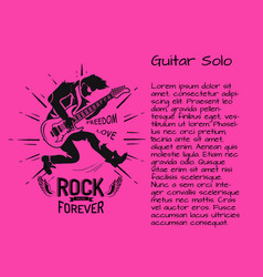 rock music forever guitar solo colorful poster vector image vector image