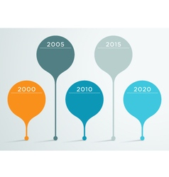 Timeline 3d infographic 3 vector