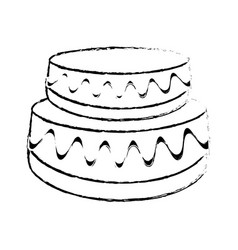 wedding cake dessert sketch vector image