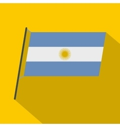 Argentina flag icon flat style vector image vector image