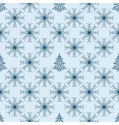 Christmas snowflakes seamless background vector image vector image
