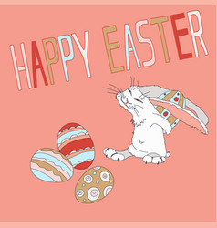 easter holiday with the vector image