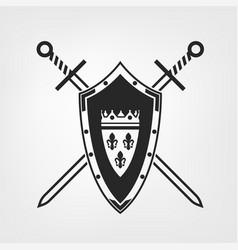 medieval shield image vector image vector image