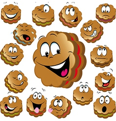 sweet christmas cookies with funny faces vector image vector image