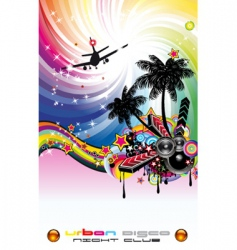 tropical island party vector image vector image