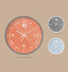 wall clocks face set dial plate vector image vector image
