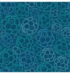 Abstract underwater plants seamless pattern vector image