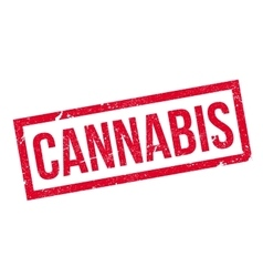 Cannabis rubber stamp vector image