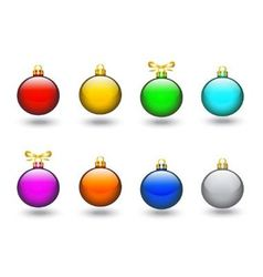 colored Christmas balls vector image