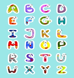 Funny letters vector