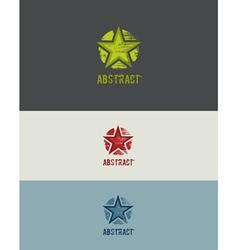 Grunge Star Design Element vector image vector image