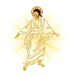 Resurrection of Jesus vector image