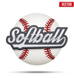 Softball circle symbol vector image vector image