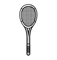racket tennis equipment - shadow vector image
