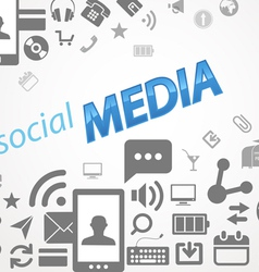 Social media abstract icons vector image vector image