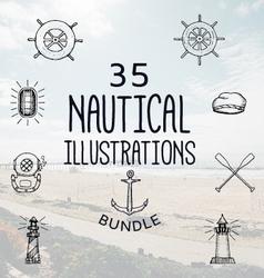 35 nautical bundle vector