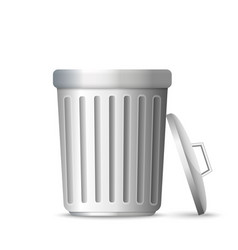 3d realistic trashcan vector image