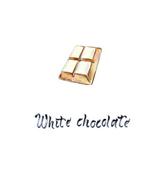 4 pieces white chocolate bar vector image