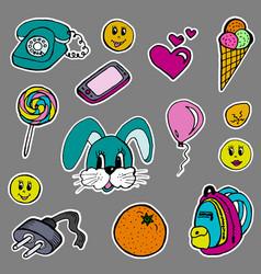a set of fashion labels badges hare orange vector image