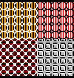 abstract seamless pattern set - circle background vector image