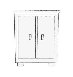 antique wooden closeth vector image