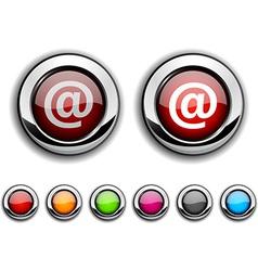 Arroba button vector image