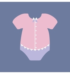 Baby girl bodysuit vector