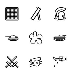 battle icons vector image
