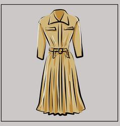 beige dress basic wardrobe a minimalist vector image