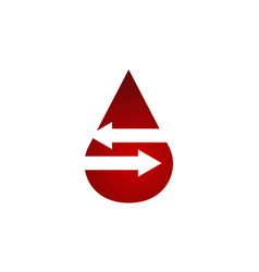 blood transfusion logo design template vector image