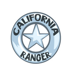 California ranger badge american justice emblem vector