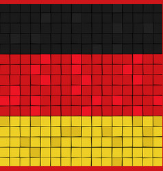 Card stunt or mosaic flag of germany vector