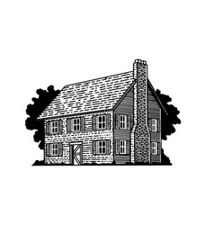 Colonial house vector
