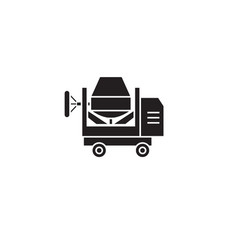 concrete mixer black concept icon concrete vector image