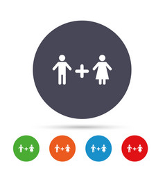 couple sign icon male plus female lovers vector image