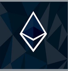 Cryptocurrency ethereum concept vector