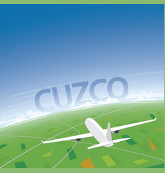 Cusco flight destination vector