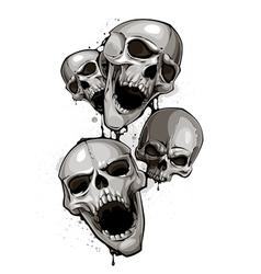 Decrepit skulls vector