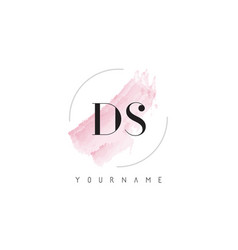 Ds d s watercolor letter logo design with vector