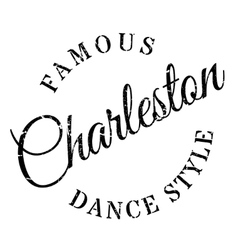 Famous dance style Charleston stamp vector