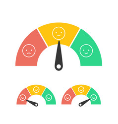 Feedback concept design emotions scale isolated on vector