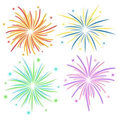 Fireworks on white background stock vector