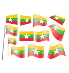 flag of Burma vector image
