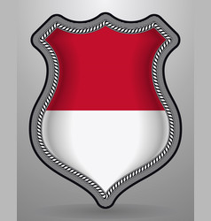 Flag of monaco badge and icon vector