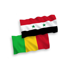 flags mali and syria on a white background vector image