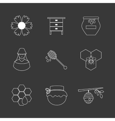 Flat design concept with icons vector image