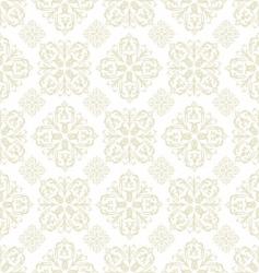 floral wallpaper beige tile vector image vector image